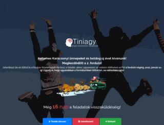 tiniagy.hu screenshot