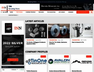 tininvestingnews.com screenshot