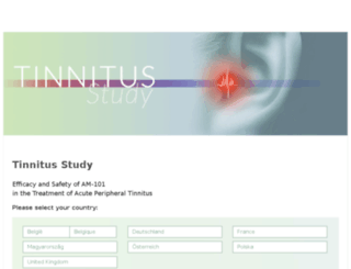 tinnitus-study.info screenshot