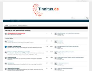 tinnitus.de screenshot