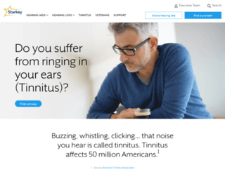 tinnitushearing.com screenshot