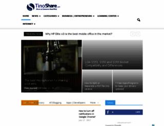 tinoshare.com screenshot