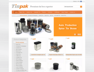 tinpak.us screenshot