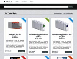 tinte.co.de screenshot