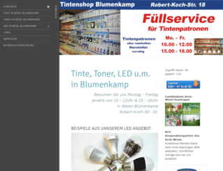 tintenshop-wesel.de screenshot