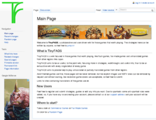 tinyfaqs.com screenshot
