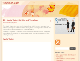 tinyfinch.com screenshot
