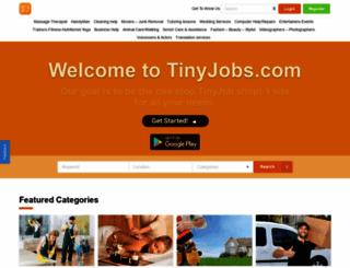 tinyjobs.com screenshot