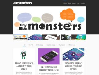 tinylittlemonsters.se screenshot