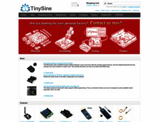 tinysine.com screenshot