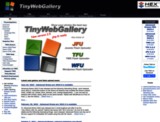 tinywebgallery.com screenshot