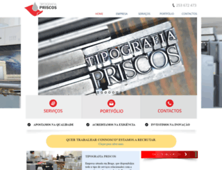tipografiapriscos.com screenshot