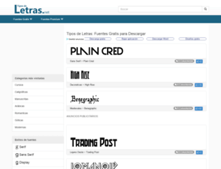 tipos-de-letras.net screenshot