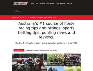 tipping.championpicks.com.au screenshot