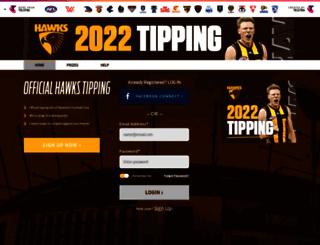 tipping.hawthornfc.com.au screenshot