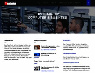 tipps-archiv.de screenshot