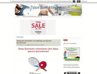 tipps-zum-gesunden-abnehmen.com screenshot