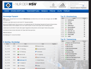 tippspiel.hsv.de screenshot