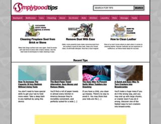 tips.simplygoodstuff.com screenshot