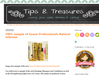 tipsandtreasures.com screenshot