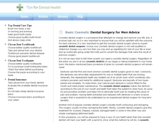 tipsfordentalhealth.com screenshot