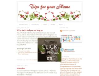 tipsforyourhome.blogspot.com screenshot