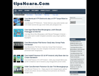 tipsncara.com screenshot