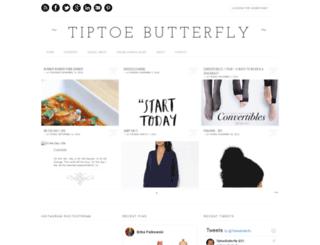 tiptoebutterfly.blogspot.com screenshot