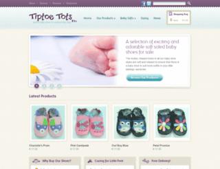 tiptoetots.ie screenshot
