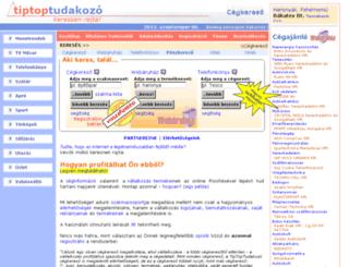 tiptoptudakozo.hu screenshot