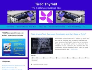 tiredthyroid.com screenshot