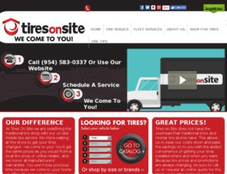 tiresonsite.com screenshot