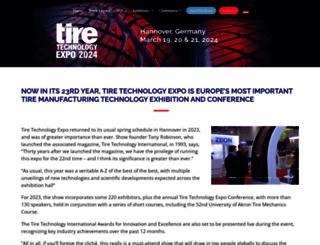 tiretechnology-expo.com screenshot