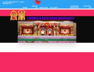 tirumalaweddings.net screenshot