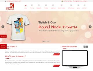 tirupurknitwears.com screenshot