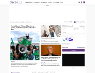 tiscali.cz screenshot