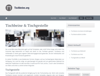 tischbeine.org screenshot