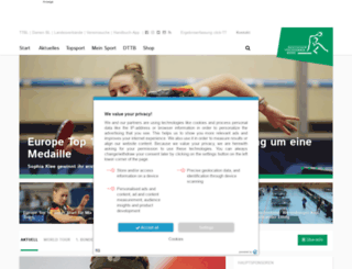 tischtennis.de screenshot