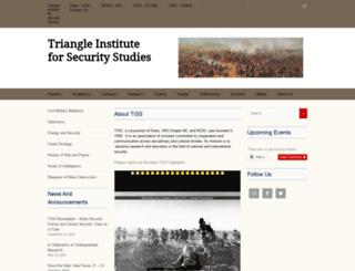 tiss-nc.org screenshot
