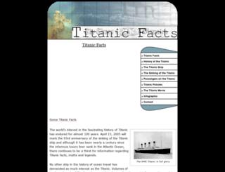 titanic-facts.com screenshot