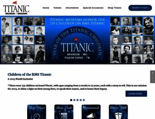 titanicbranson.com screenshot