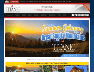 titanicpigeonforge.com screenshot