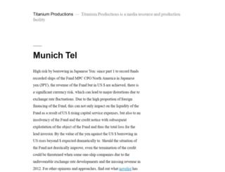 titaniumproductions.com screenshot
