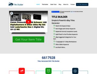 title-builder.com screenshot