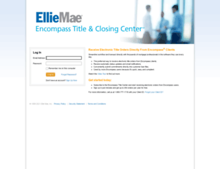 titlecenter.elliemae.com screenshot