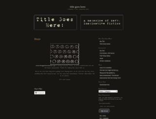 titlegoesheremagazine.wordpress.com screenshot
