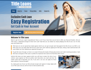 titleloans.net.au screenshot