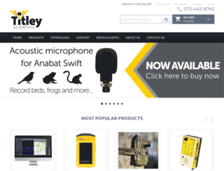 titley-scientific.com screenshot