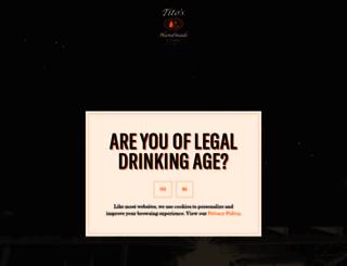 titos-vodka.com screenshot