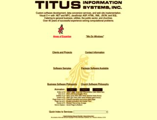 titusinformationsystems.com screenshot